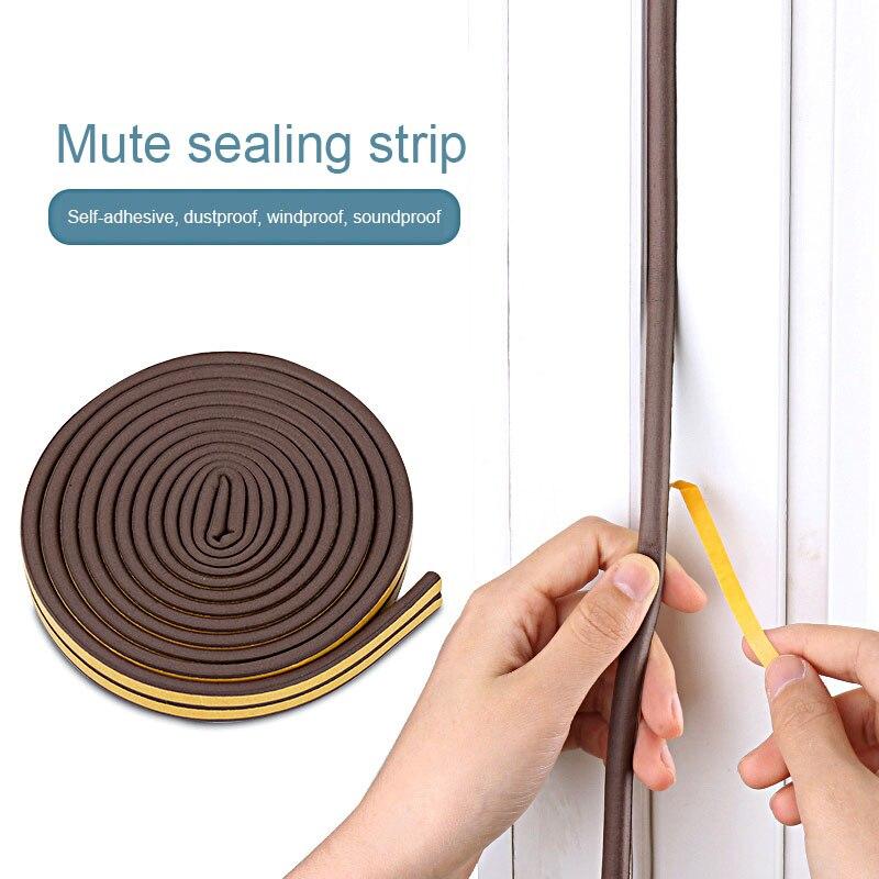 10m Type Diep Self Adhesive Door Sealing Strips Self Adhesive Window Foam Wind Waterproof Dustproof Sound Insulation Tools Sealing Strips Aliexpress