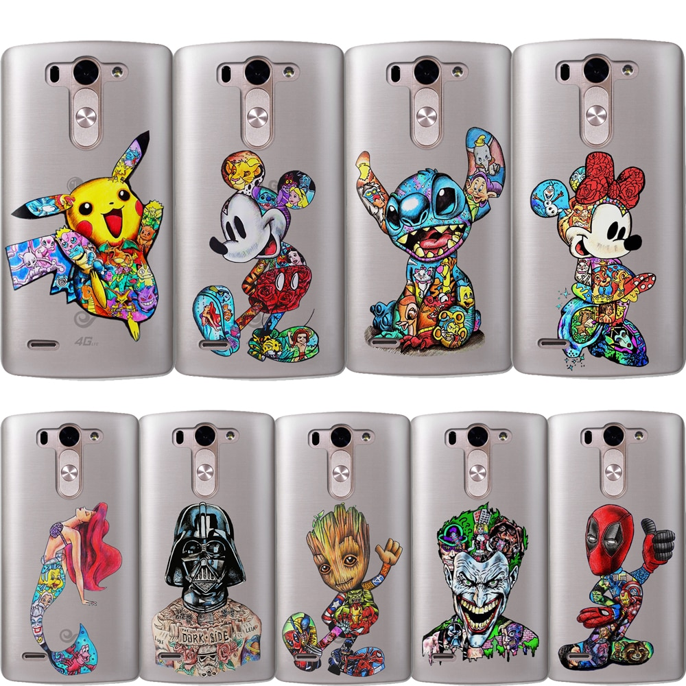 DIY custom Phone Case Stitch Joker Deadpool Marvel Luxury For LG G6 Q6 G3 G4 G5 G7 XPower 2 3 V30 Q8K7 K8 K10 2017 Etui Silicone