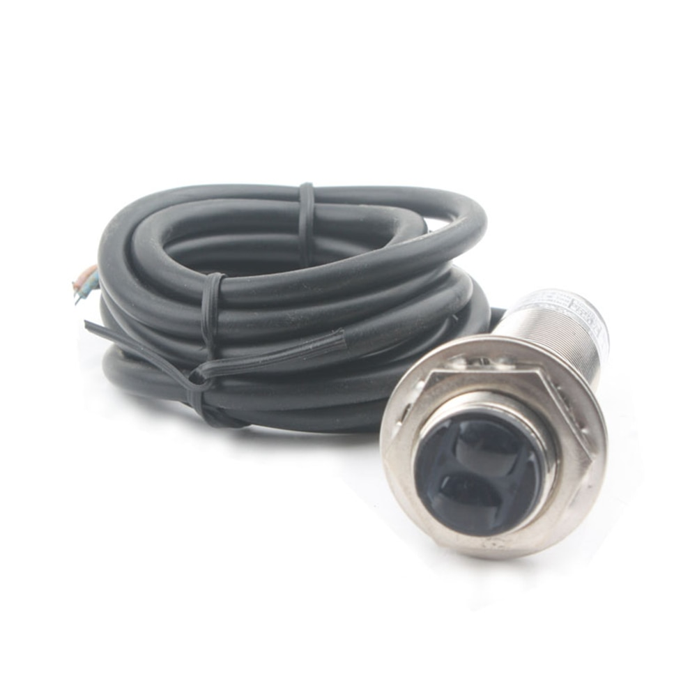 Taidacent Infrared Diffuse Reflection Photoelectric Sensor Motion 3m Adjustable NPN Normally Open 12V24V