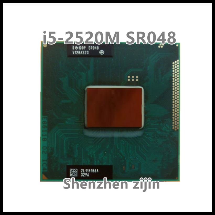 I5-2520M i5 2520M SR048 SRO48 2.5 GHz ثنائي النواة رباعية الموضوع 3M 35W المقبس G2 / rPGA988B