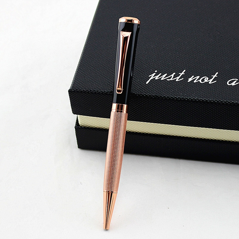 Высококачественная шариковая ручка 1 шт. вращающаяся металлическая шариковая ручка канцелярская шариковая ручка 0,7 мм черные чернила офисн...