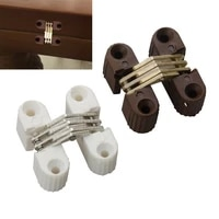 6pcs hidden folding door barrel cross hinge plastic invisible concealed hinges for dining table connection furniture hardware