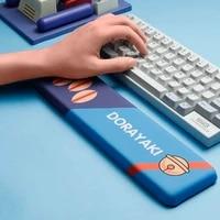 keyboard wrist rest pad support anima mousepad mice mat memory foam ergonomic silicone anti slip office gaming pc laptop mause