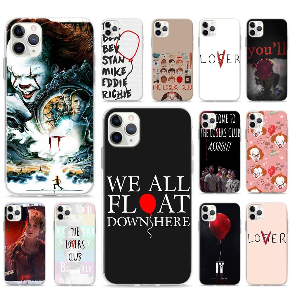 Filme it perdedores clube amante caso para apple iphone se 2020 11 pro max xr x xs 6 7 8 se2 plus capa de telefone escudo