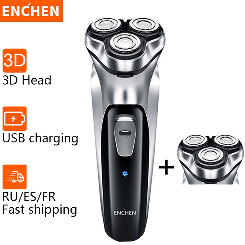 Enchen Electric Shaver Men's Razor Beard Trimmer shaver for men 3 blades portable beard trimmer cutting machine for sideburns 5