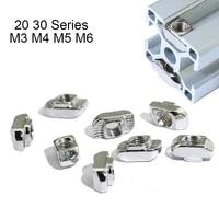 2020 3030 series m3 m4 m5 m6 thread t nuts hammer head fastener nut for 2020 3030 aluminum extrusion profile t slot 6mm 8mm