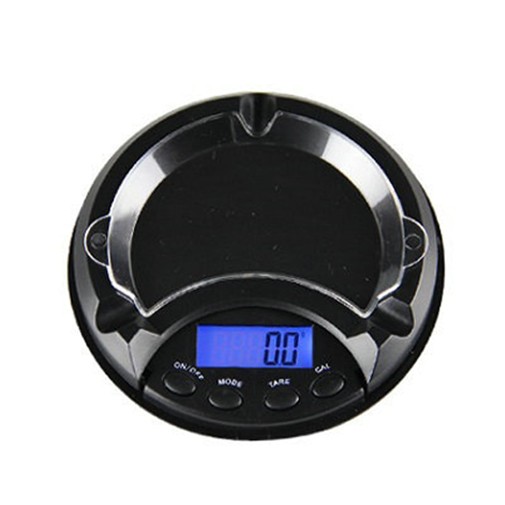 500g/0,1g Cenicero peso joyería balanza portátil bolsillo Digital multifuncional Mini