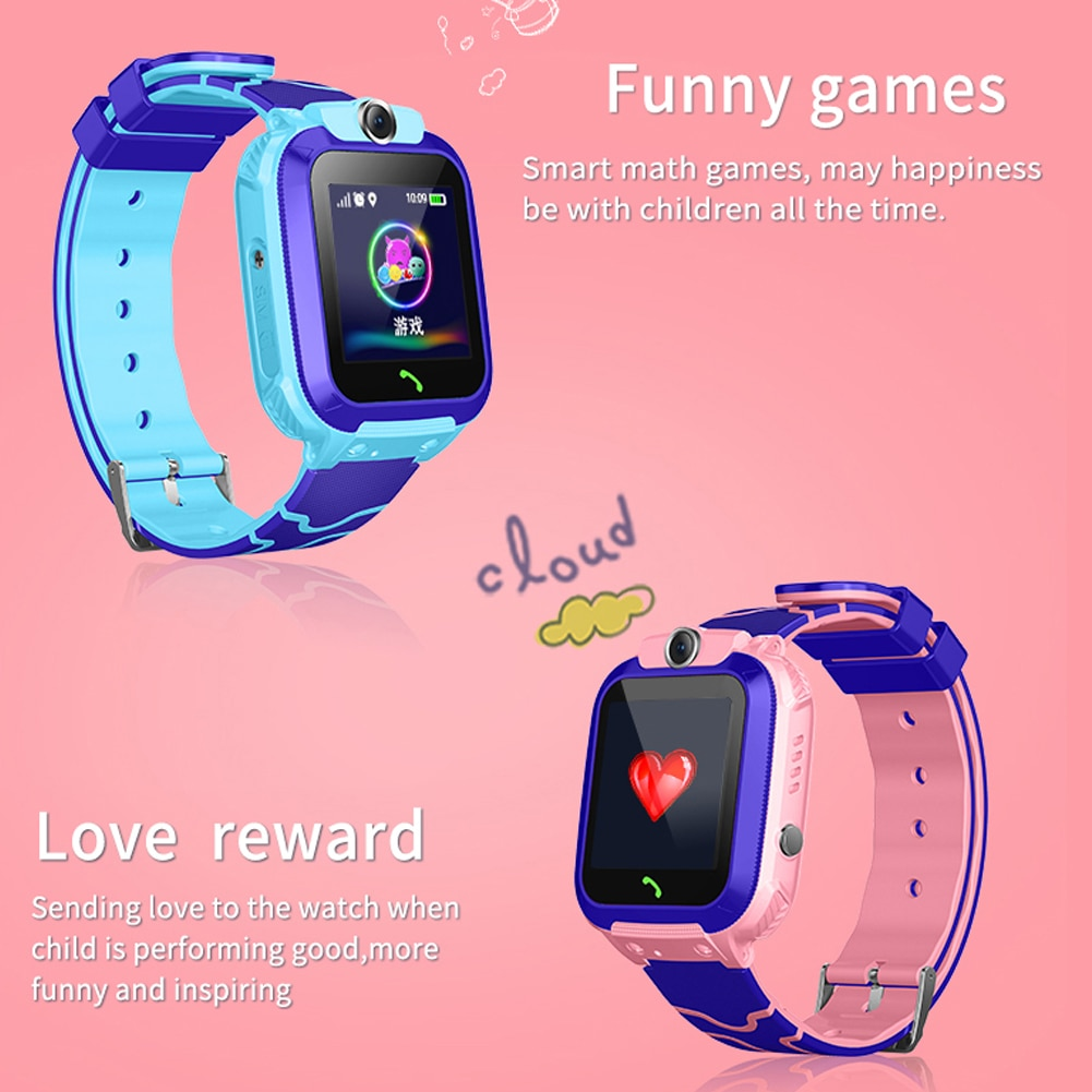 Hands-free Intercom Phone Watch Front-face Camera Smartwatch Heart Rate Sleep Monitoring Watches for Kids Gifts