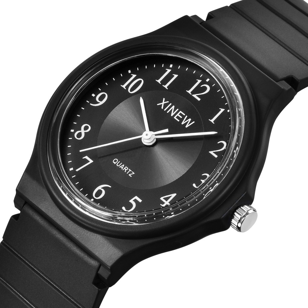 Men's and women's ultra-thin silicone quartz watch neutral pure color silicone sports watch analog q