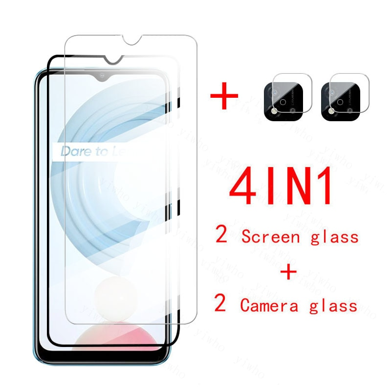 Protector glass On Realme C21 Tempered glass Back Camera lens film For OPPO Realme C20 C17 C15 C12 C