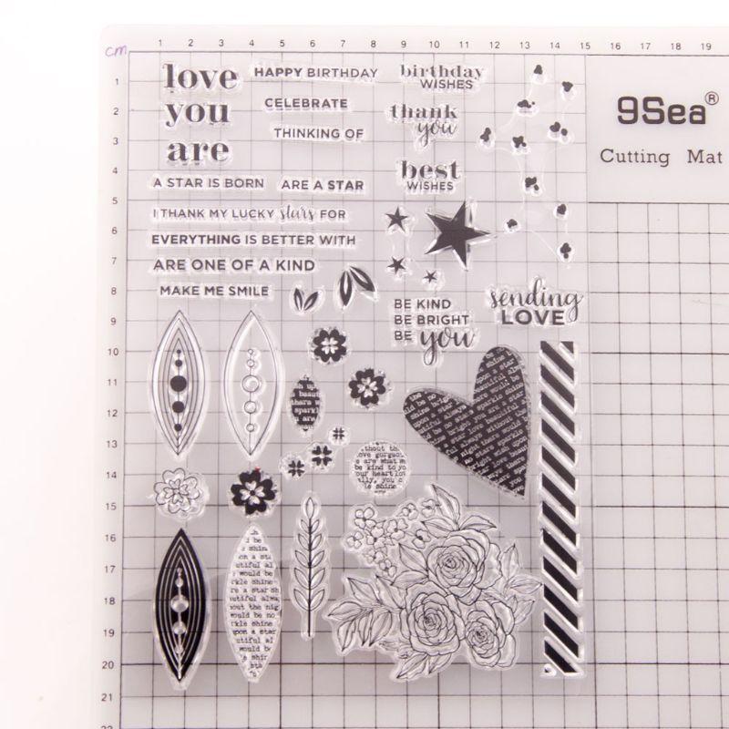 Sello de silicona transparente de flor de estrella sello DIY álbum de recortes en relieve papel de álbum de fotos