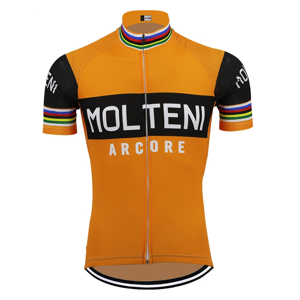 Retro MOLTENI cycling jersey team bike jersey breathable short sleeve ropa ciclismo outdoor sports  classic cycling clothing