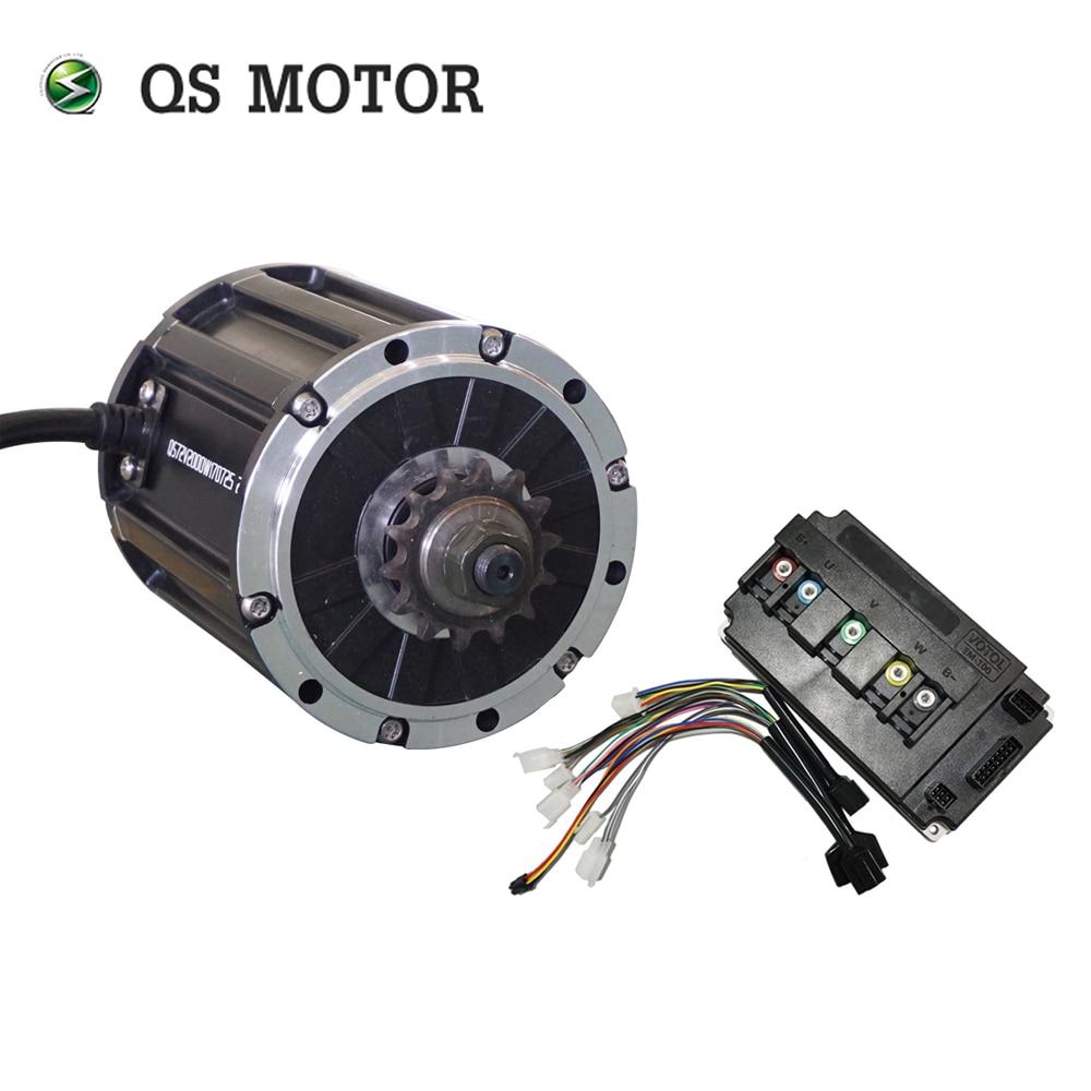 QS MOTOR 120 de 2000 W de motor, con piñón 428 y EM100SP controlador para motocicleta eléctrica Z6 70KPH 72 V