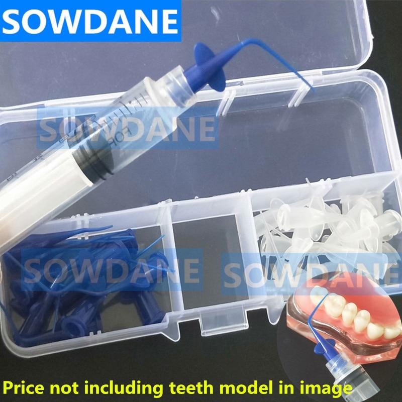 Kit De Cuidados de Lavagem Oral Care Dental Teeth Whitening Dentadura Flexiable Transporte Cabeça Descartável Agulha Ponta da Seringa de Irrigação