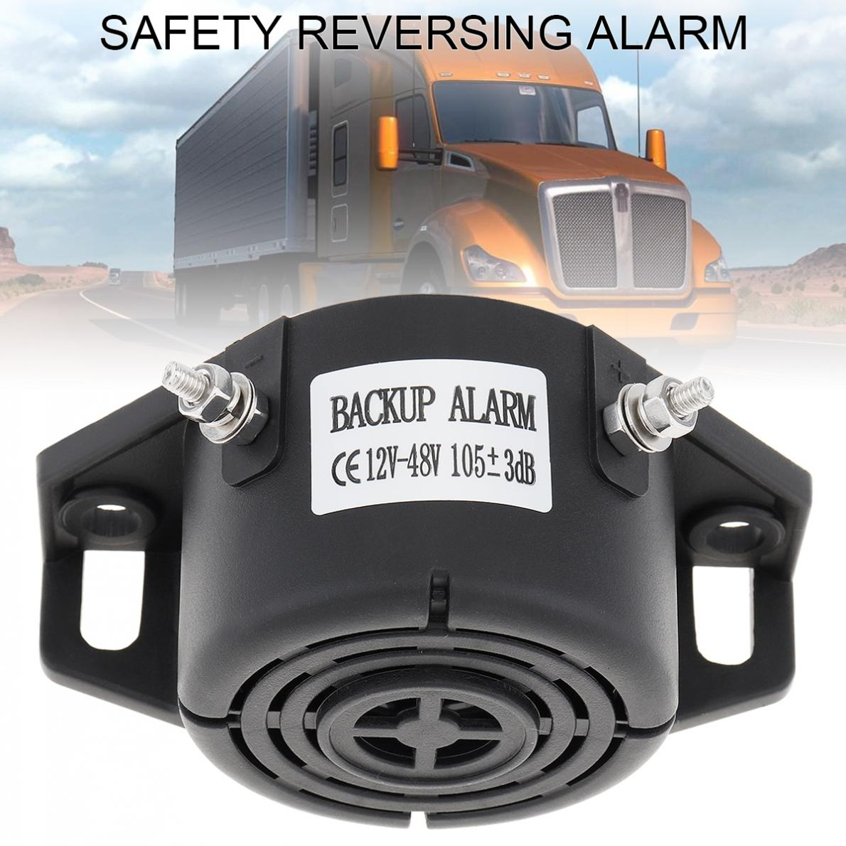 12V-48V 105dB Car Motorcycle Vehicle Reversing Horn Back up Alarm Horn Speaker Reverse Auto Warning Fit for Motorcycle Car