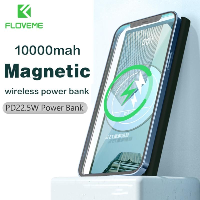 FLOVEME PD22.5W قوة البنك 1000mAh المغناطيسي Powerbank لاسلكي سريع تهمة شاحن بطارية خارجية محمولة ملحقات الهاتف