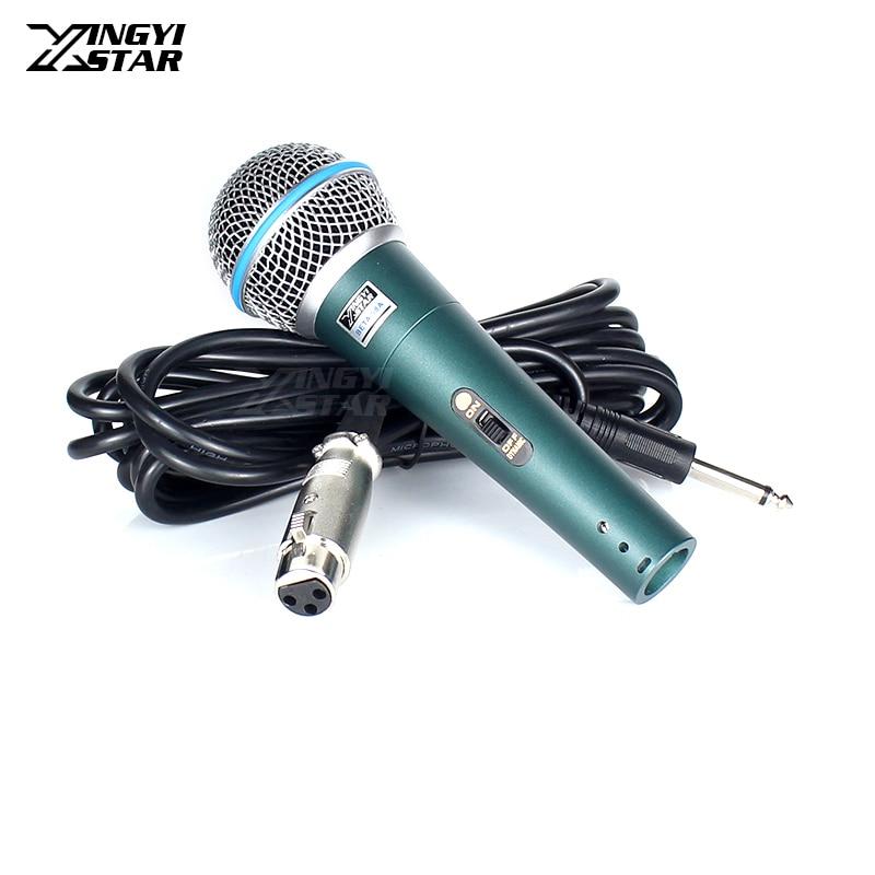 BETA58A-micrófono dinámico de mano con cable profesional, sistema de micrófono para Karaoke...