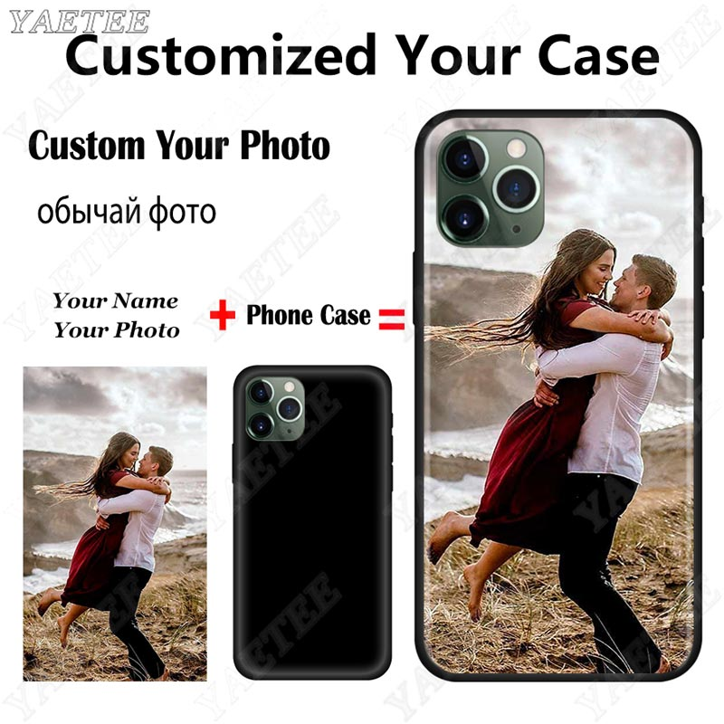 Review Custom Your Own Phone Case for iPhone 12 11 Pro MAX 6 7+ 8 Plus X XR XS Max SE 2020 5 5S 6S Cover Picture Name Photo DIY Cases