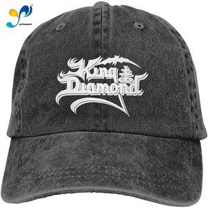 King Diamond Adult Cowboy Hat Funny Adjustable Casquette Trucker Hat Black