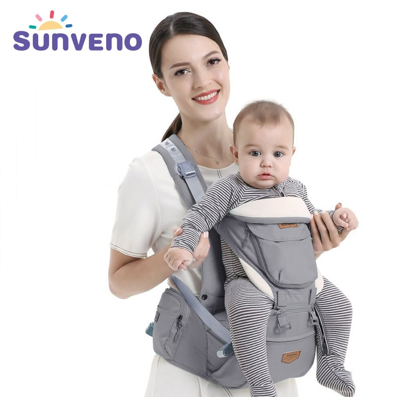 Sunveno Ergonomic Baby Carrier Baby Kangaroo Child Hip Seat Tool Baby Holder Sling Wrap Backpacks Baby Travel Activity Gear
