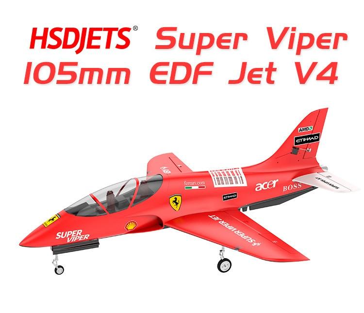HSD Avanti super viper 105mm EDF avión PNP formato 6S 6 o 8S o 12 versión S con sistema de freno