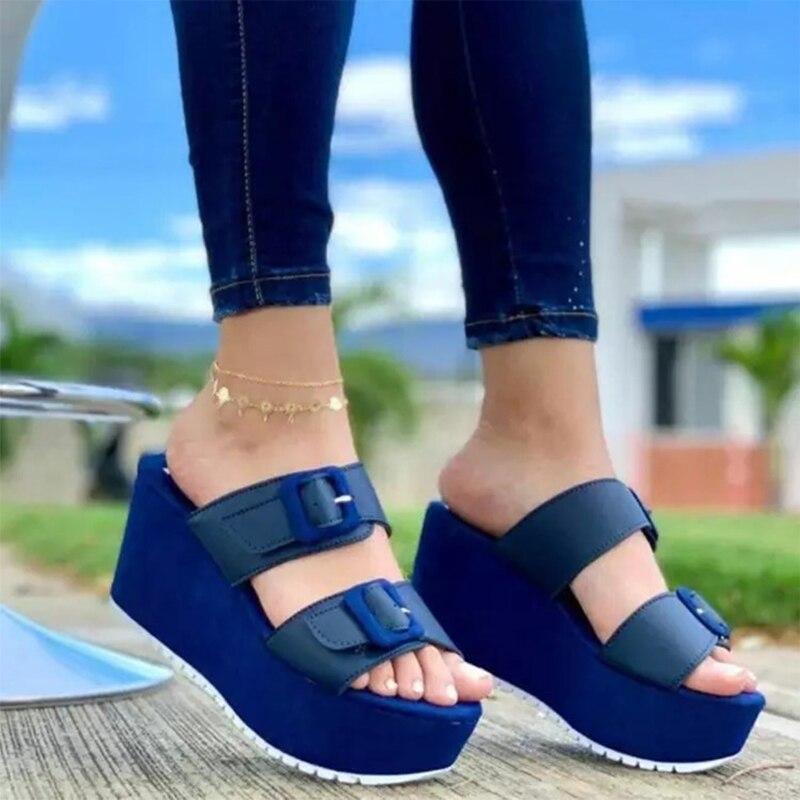 Zapatillas De deporte Zapatillas De cuña para mujer y Zapatos informales a...