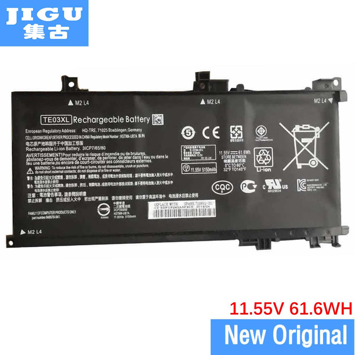 JIGU الأصلي بطارية كمبيوتر محمول 849570-543 HSTNN-UB7A TE03XL ل HP 15-AX003NF 15-AX003NO 15-AX001NC 15-AX002NA 15-AX003NL