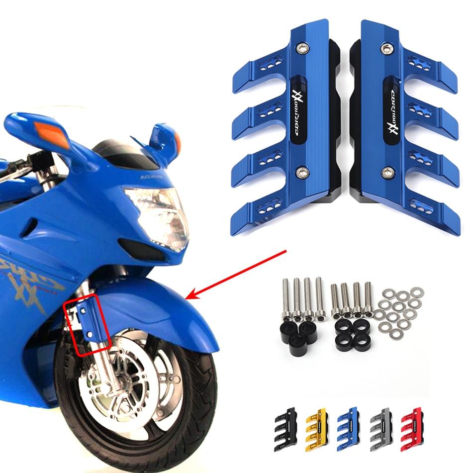 For Honda CBR1100XX blackbird Motorcycle Mudguard Front Fork Protector Guard Block Front Fender Anti-fall Slider Accessories