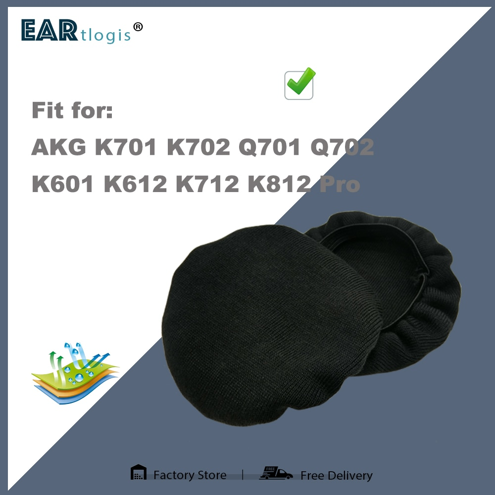 Stretch Covers Sweat Absorption Washable Germproof Deodorizing for AKG K701 K702 Q701 Q702 K601 K612 K712 K812 pro Headset enlarge