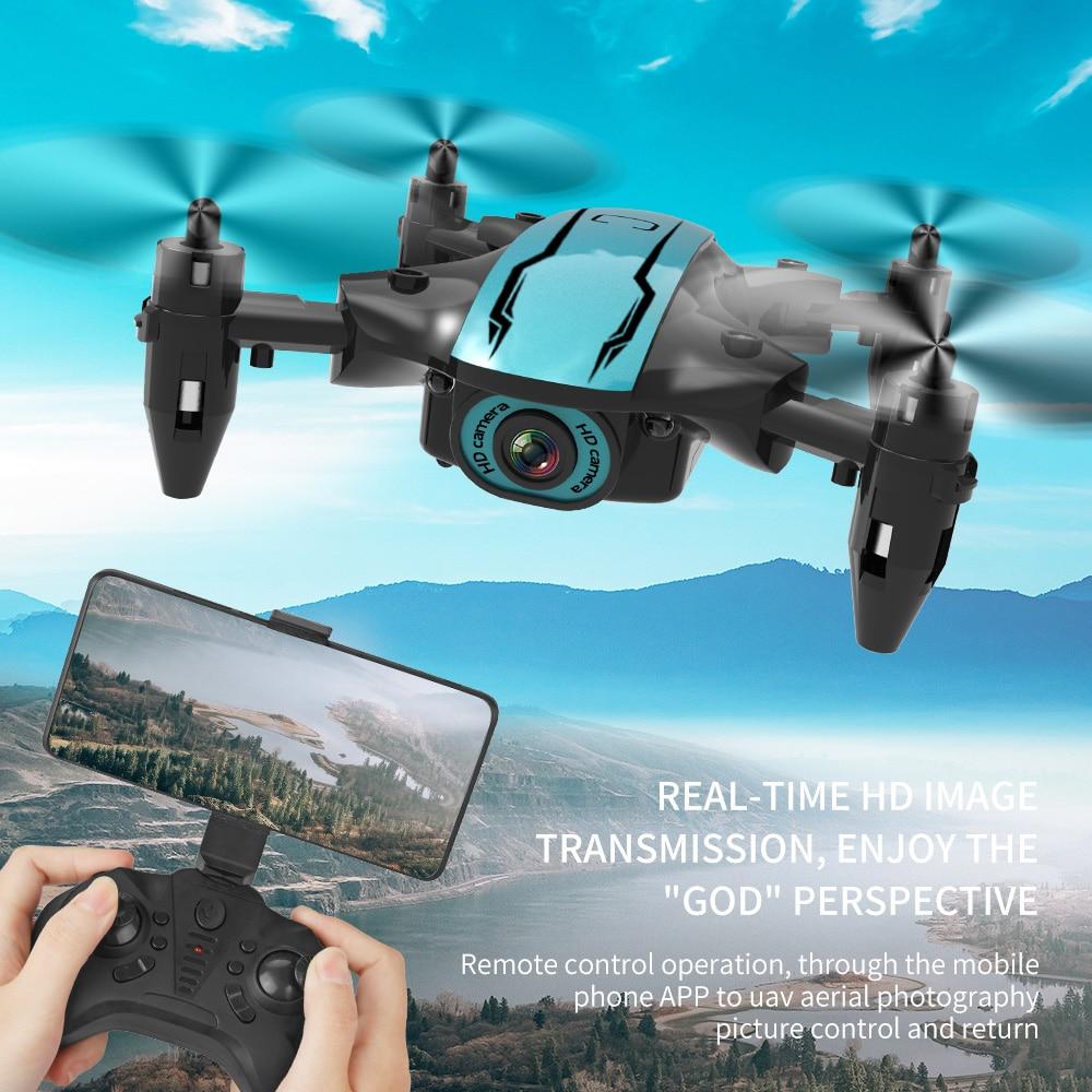 طائرة صغيرة جديدة 4K احترافية 1080P كاميرا عالية الدقة واي فاي FPV ضغط الهواء الارتفاع عقد أسود طوي كوادكوبتر RC درون لعبة