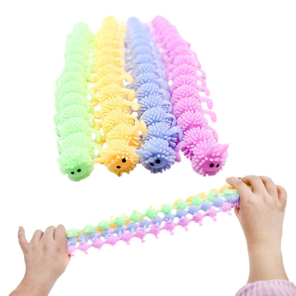 1pc 16 Knots Caterpillar Relieves Stress Toy Physiotherapy Releases Stress Fidget Toys Personalized Gift Juguetes Toys For kids
