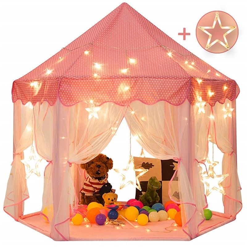 Play House Game Tent Toys Ball Pit Pool Portable Foldable Princess Folding Tent Castle Gifts Tents Toy For Kids Children Girl toys tent for kids tunnel ball pool pits ocean series cartoon game portable foldable outdoor sports toys with basket children