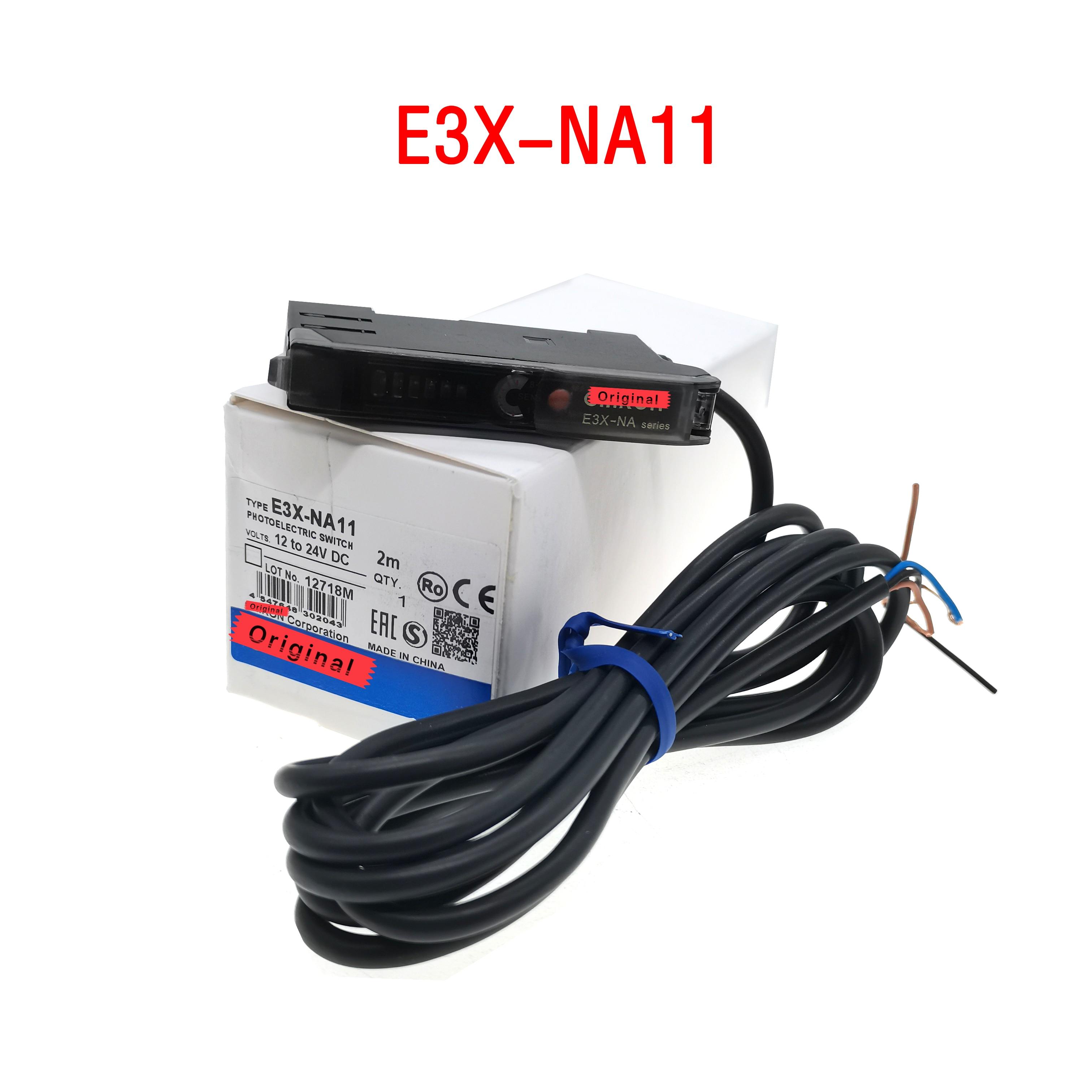 10 قطعة E3X-NA11 NPN جديد البصرية مضخم الألياف الاستشعار كهروضوئية الاستشعار عالية الجودة