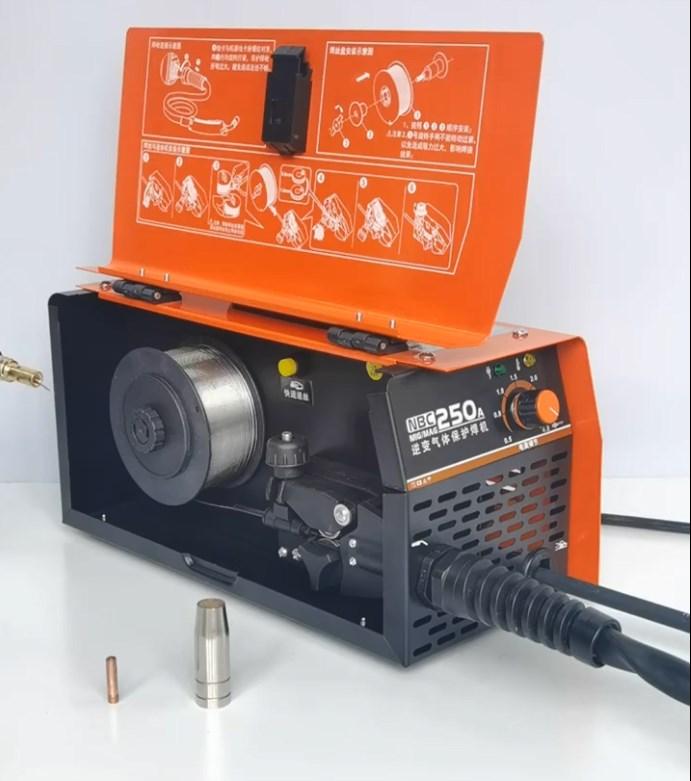 ثاني أكسيد الكربون الغاز محمية آلة لحام آلة متكاملة صغيرة اثنين آلة لحام 220 فولت المنزل خالية من الغاز