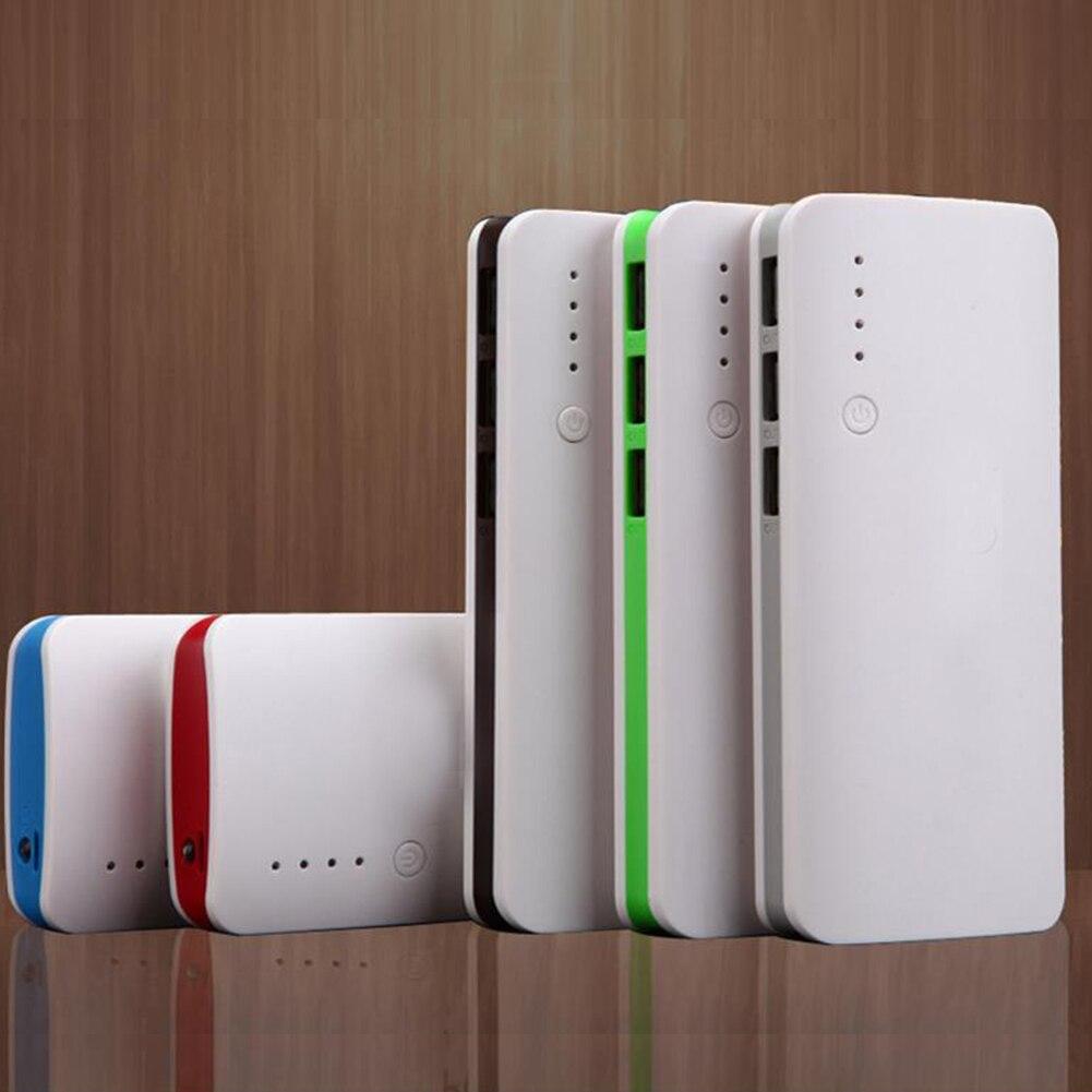 5V 1A 2.1A ile LED ışık kapak taşınabilir devre koruması 18650 pil 3 USB bağlantı noktaları taşınabilir güç kaynağı kılıfı aşınmaya dayanıklı koruyucu