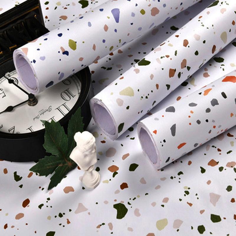 Самоклеящаяся виниловая самоклеящаяся настенная бумага Terrazzo для детской спальни, кухни, кабинета, контактная бумага, Настенная бумага для ...