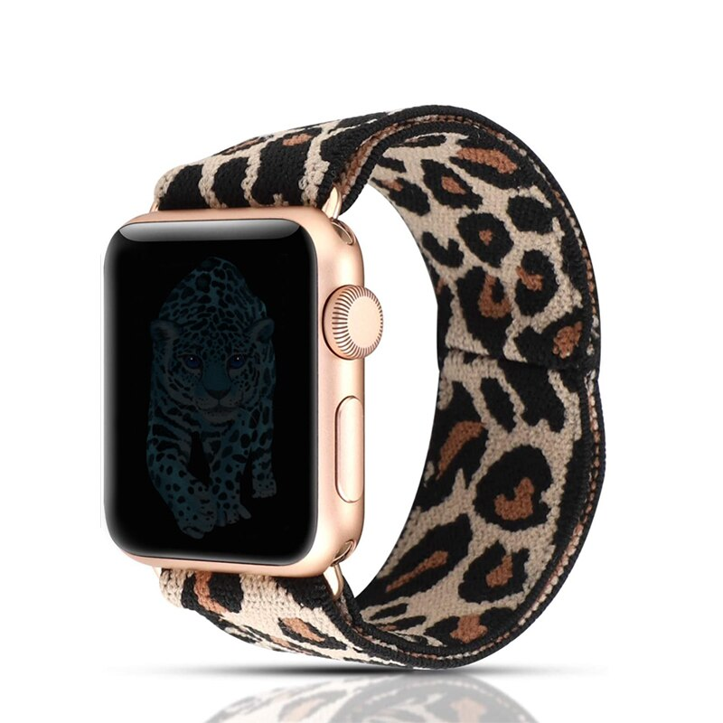 Correa elástica de nailon para apple watch 38mm 40mm 42mm 44mm iwatch 5/4/3/2/1 pulsera de doble capa elástica