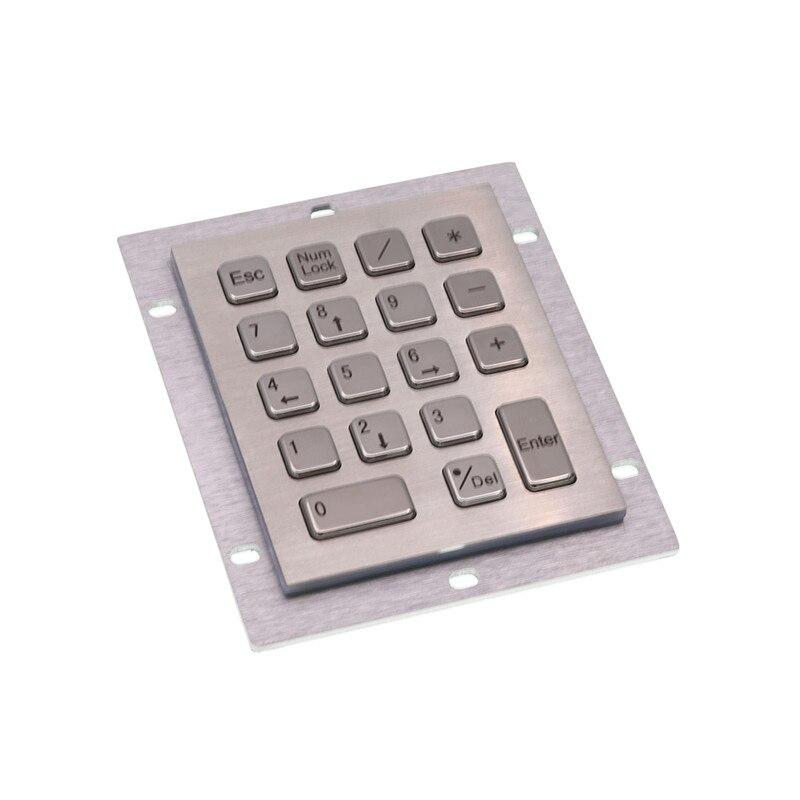مصنع توريد الفولاذ المقاوم للصدأ مقاوم للماء لوحة المفاتيح المعدنية مع واجهة USB ماكينة بتحكم رقمي بالكمبيوتر