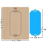 new card tag wooden die scrapbooking c 263 cutting dies for common die cutting machines on the market