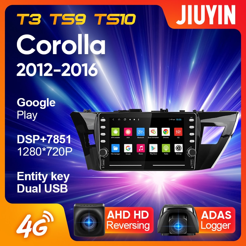 JIUYIN For Toyota Corolla 11 2012 - 2016 Car Radio Multimedia Video Player Navigation GPS Android No 2din 2 din dvd