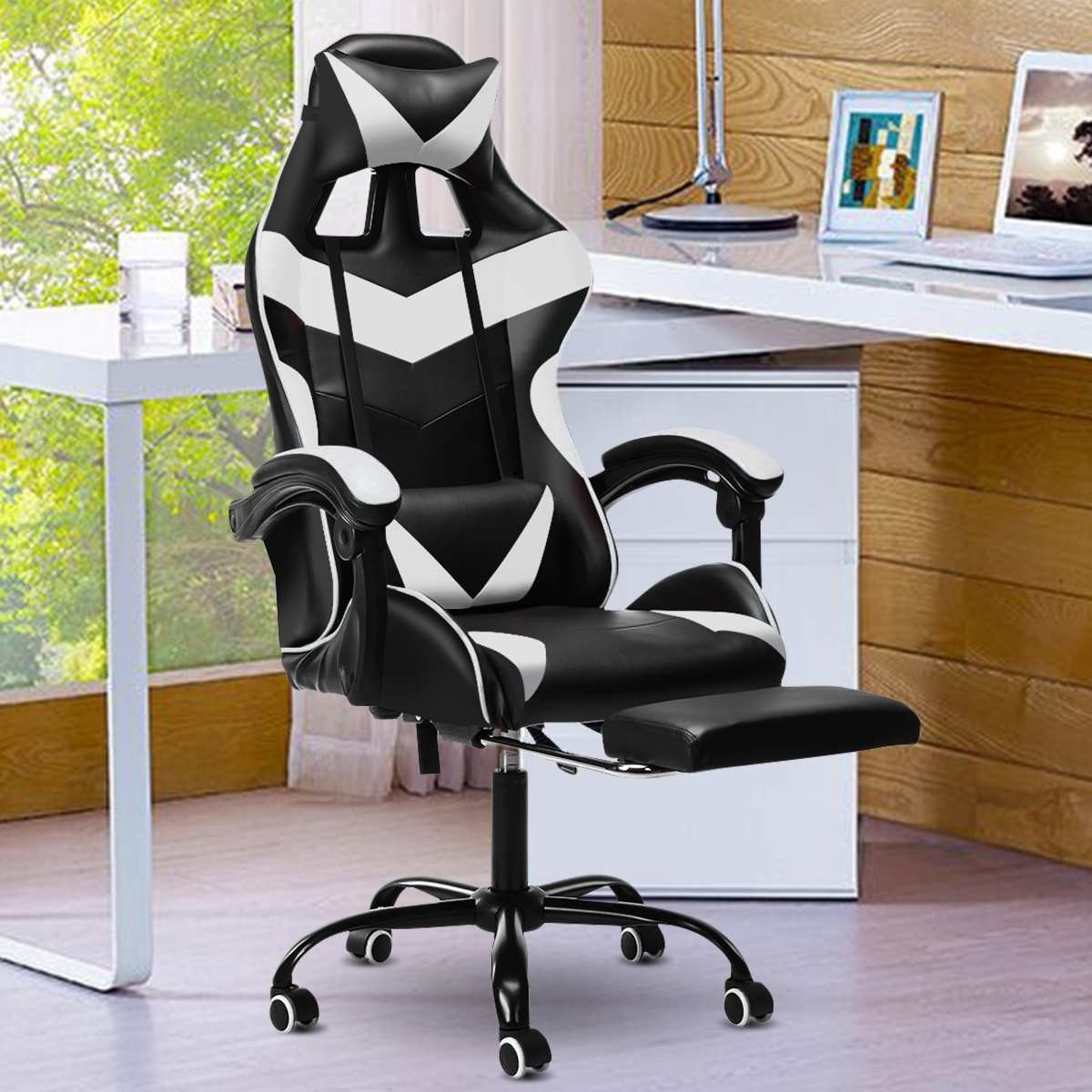 Эргономичный кожаный офисный игровой стул, домашний гоночный стул WCG, Интернет, кофе, компьютер, вращающийся подъемник, игровой стул