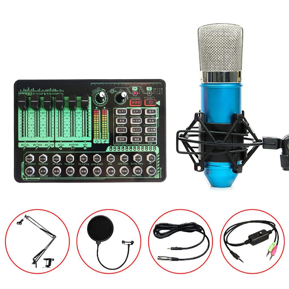 GAX-H9 Studio Sound Card Audio Usb External Computer Pc Mobile Phone Singing Recording For Live Broadcast Mic Sound Card enlarge