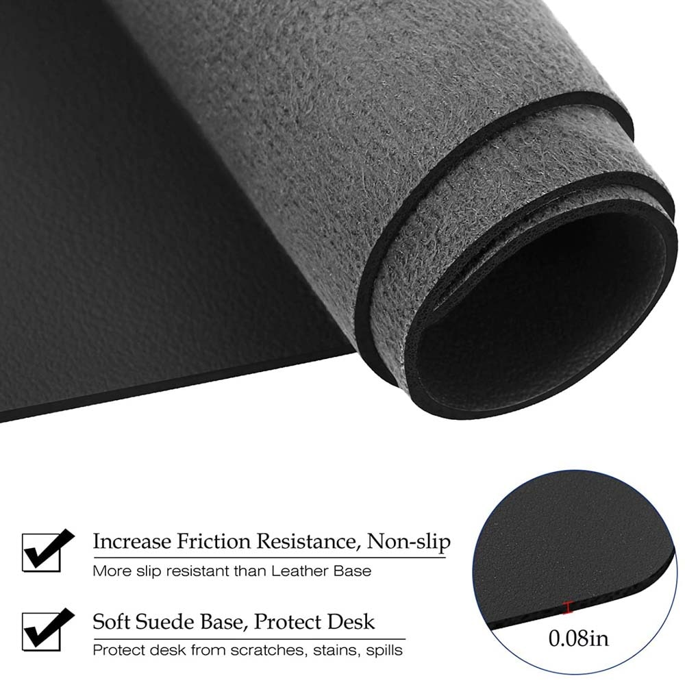 Fashion Notebook Mouse Pad Non-slip PU Leather Waterproof Computer Mouse Pad Simple Office Game Desktop Tablet Mat