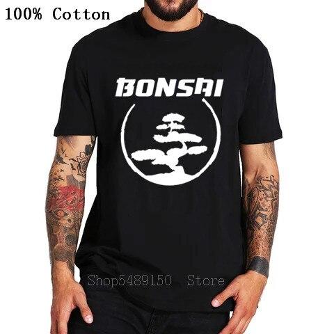 Camiseta con estampado de tinta china para hombres, Camiseta con estampado de árbol en círculo de Miyagi Do kárate y bonsái Cobra Kai, camiseta con gráfico Retro, Camiseta de algodón en 3D