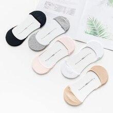 Solide Sommer Dünne Boot Socken Frauen Unsichtbare Schuh Liner Socken Silikon Non-slip Low Cut Ankle Socke Meias Atmungsaktiv strumpfwaren