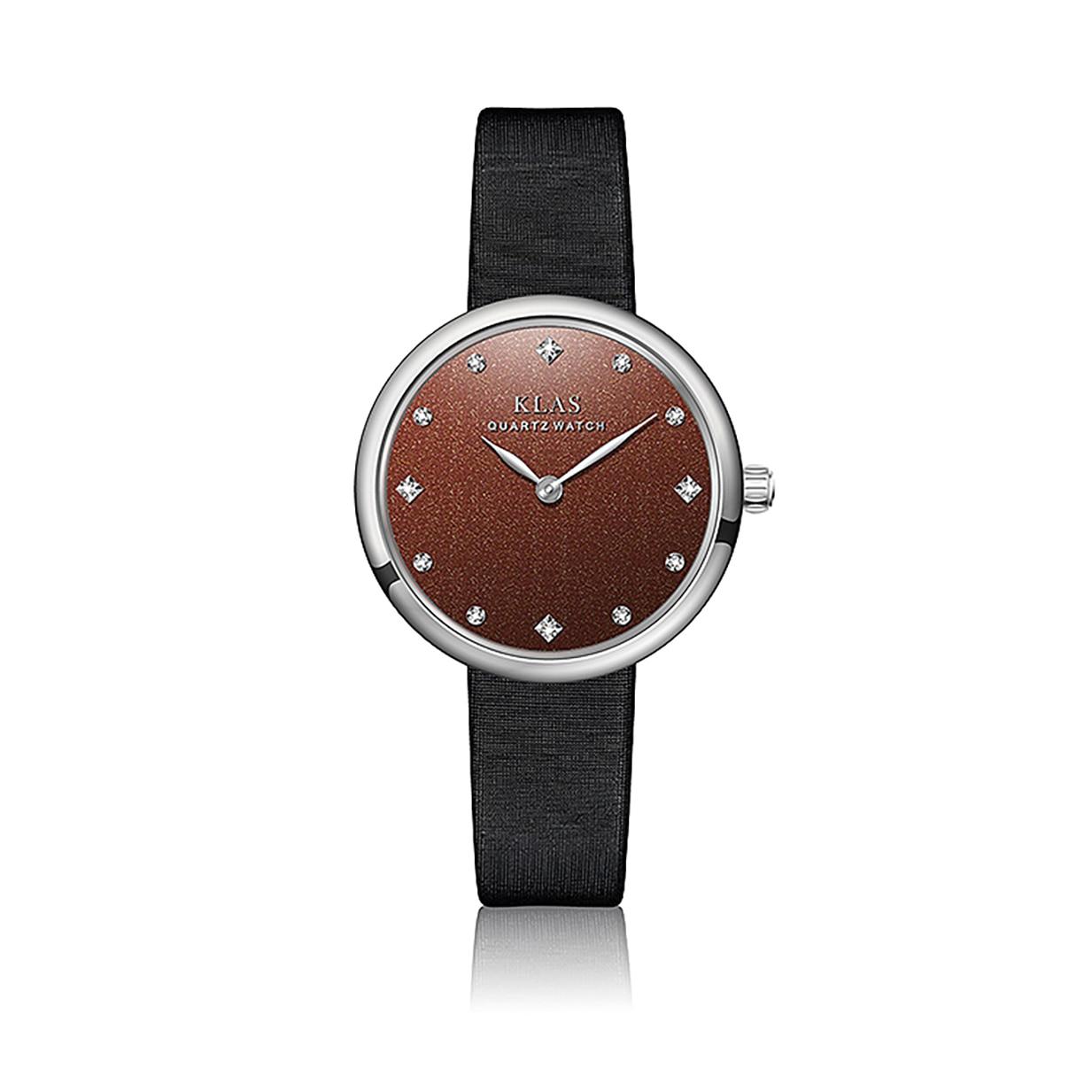 مزاجه بسيطة ، واتجاه الموضة السيدات ساعة KLAS العلامة التجارية