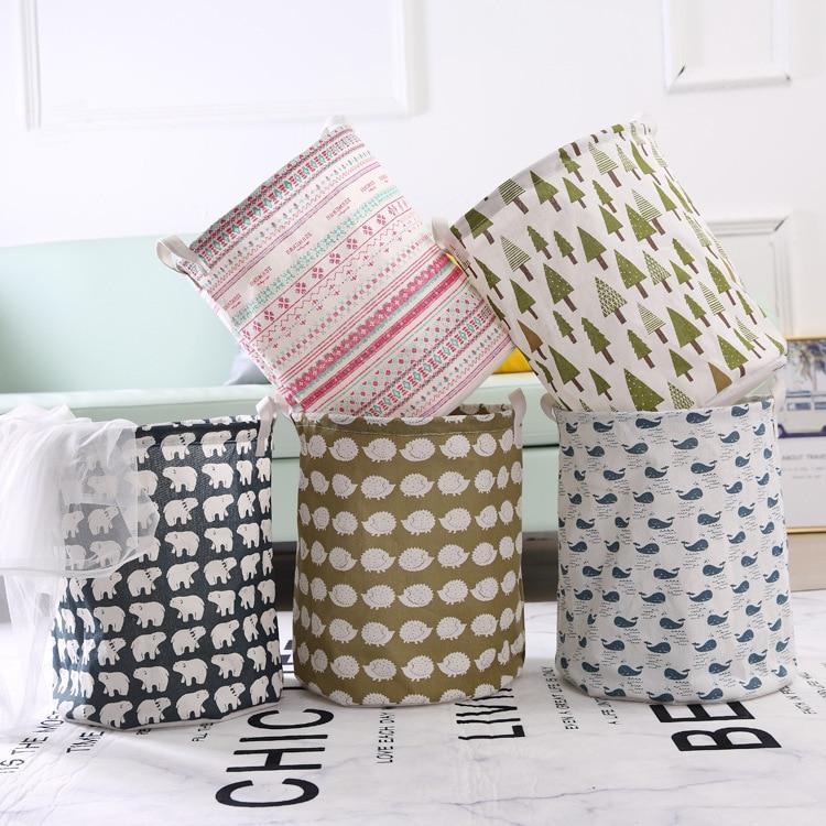 Juguetes plegables de talla grande, cesta de almacenamiento de ropa sucia, organizador de contenedor para artículos diversos, bolsa para el hogar, Droshipping de 37,4*43cm