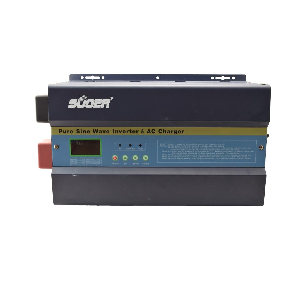 Suoer Invertor 3000w 12v/24v/48v 50A PWM Low Frequency Inverter Hybrid Solar Power Inverter