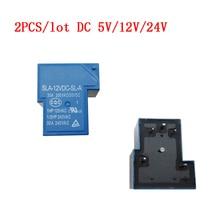 2 pièces/lot relais de puissance cc 5 V/12 V/24V relais SLA-05VDC-SL-A SLA-12VDC-SL-A relais SLA-24VDC-SL-A 5 V 12 V 24V relais à semi-conducteurs T90 30A