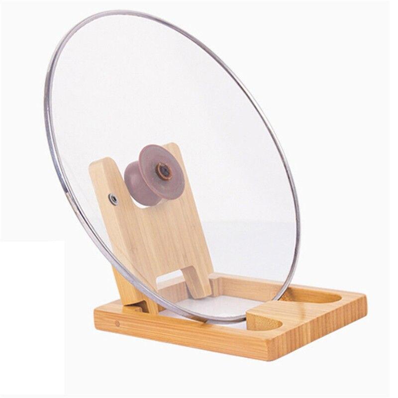 Creativo estante de maceta para cortar bloque de corte estante de la tabla de cocina tapa de la olla estante de almacenamiento estante de madera tapa de la torreta suministros de estantería de cocina